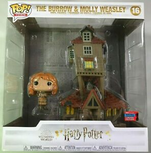 Funko Pop Town Harry Potter - The Burrow and Molly Weasley #16 - Con Exclusive