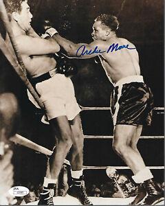 Archie Moore Autographed 8x10 Photo JSA COA