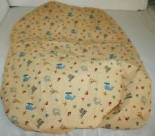 CoCaLo Fitted Crib Sheet Alphabet Soup Yellow Zoo Animals Gingham Letters Bed