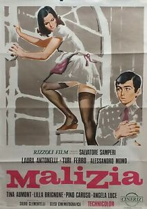 Manifesto Originale, dal  Film  MALIZIA - Edizione 1973 - 100 X 140