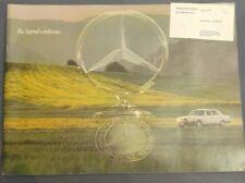 Mercedes Benz 1976 Full Model Range Brochure SL SE SEL SLC 280 450 230 240 300 D