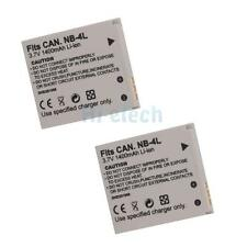 2X 1400mAh NB-4L Battery for Canon IXUS 80 IS IXUS I ZOOM IXUS i7 PowerShot SD96