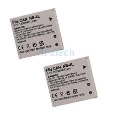 2X 1400mAh NB-4L Battery for Canon IXUS 80 IS IXUS I ZOOM IXUS i7 PowerShot SD96
