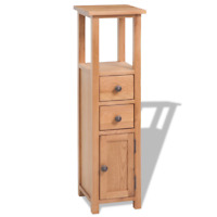 OAK Corner Cabinet Solid Wooden Storage Cupboard Bedroom Bathroom Decor Brown
