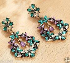 Ear Studs hoop earrings 10cm 847 New Lady Woman Elegant crystal Rhinestone long