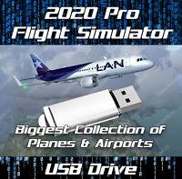 FLIGHTGEAR 2020 FLIGHT SIMULATOR ULTIMATE DELUXE EDITION SIM WINDOWS ON USB