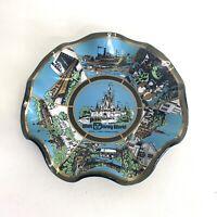 Walt Disney World Magic Kingdom Vintage Souvenir Glass Ashtray Candy Dish