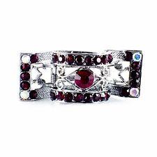USA Hair Claw Clip Hairpin Rhinestone Crystal Vintage Barrette Elegant Red A32
