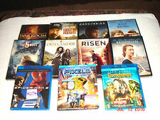 VARIOUS DVD MOVIES. 11 TOTAL. 3 are BLUE RAY, 4 is Digital Ultra Violet     NEW