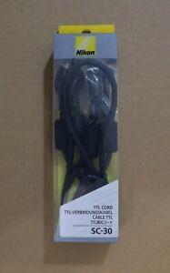 Nikon SC-30 TTL Cord Genuine Original for Nikon Speedlight SB-R200