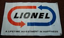 "Scarce 1965 Lionel 47"" x 30"" Vinyl Dealer Display Banner Reproduction, C10"