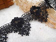 Vestido de Novia Bricolaje Ribete Negro Encordado Cinta Encaje Bordado 1M