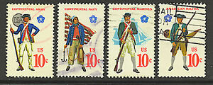 Scott #1565-68 Used Set of 4 Military Uniforms
