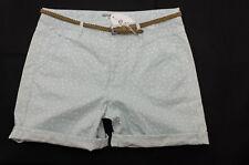 Esprit edc NEU Damen CHINO  Jeans Hose Bermudas Shorts Herzchen Print Gr.36 S