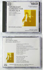 JEAN-JAQUES KANTOROW WA Mozart Concerto For Violin No.4 . 1985 Japan PCM CD TOP
