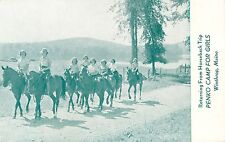 Returning From A Horseback Trip, Penko Camp For Girls, Winthrop ME