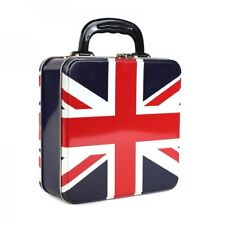 Union Jack Square Tin Tote. UK Flag Great Britian Cool Funky Gift