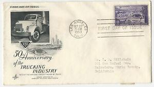 1953 FDC  SC# 1025 Truck, Farm & City K033