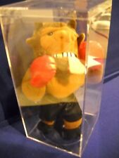 INFamous Meanies Boxing Mike Bison & box by Idea Factory Plush Stuffed Buffalo