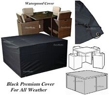 STRONG OUTDOOR FURNITURE WATERPROOF COVER RATTAN WICKER TABLE CHAIR RAIN COVER