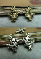 50pcs 20x14mm Rabbit Charm Tibetan Silver Antique bronze pendant  6747