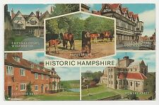 J Salmon Postcard, 1-56-00-02, Historic Hampshire Multiview, Posted 1977
