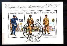 BRASIL BRAZIL 1981 POSTMEN ,UNIFORMS  S/S USED YV BL 44 Mi 45