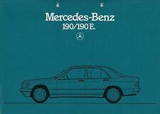 Prospekt Mercedes 190 190E W 201 12/83 Autoprospekt 1983 Broschüre brochure Auto
