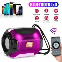 Mini Bluetooth Speaker Wireless Waterproof Outdoor Stereo Bass USB TF FM Radio