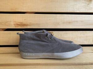Prada Suede Gray Men Shoes Sz. USA 10 UK 9 EU 43