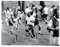 1962 Original Photo fans watch Detroit Lions Football Players practice drills
