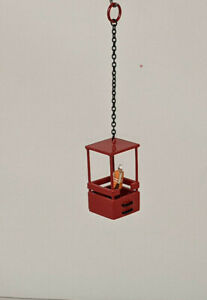 All Metal Man-Lift Cage . Authentic Mammoet Red w/ Black Steps 1/87th Scale