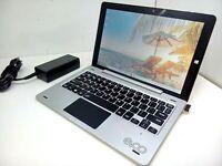 "EVOO EV-T2IN1-101-2 10.1"" Touch Intel N4000 1.1GHz 4GB 32GB Silver Tablet Laptop"