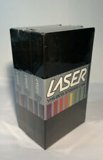 LASER 3 Pack New VHS & Beta Storage Cases Includes Index Cards for Easy ID.