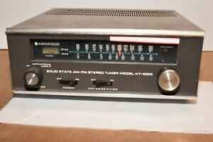 Kenwood KT-1000 am fm  Tuner  - TESTED AND WORKING