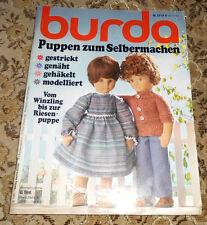 Burda von 1981 Puppen zum Selbermachen Nähen Häkeln Stricken Puppenheft