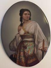 More details for porcelain plaque - judith holofernes after august riedel - kpm berlin quality