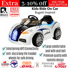 Rigo Kids Ride On Car Electric Toys Children Remote Control Bugatti Inspired New