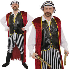 MENS PIRATE COSTUME FANCY DRESS ADULTS CARIBBEAN SWASHBUCKLER CAPTAIN L-XXL