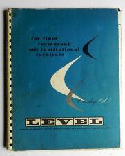 LEVEL 1959 Mid-Century Modern Restaurant Furniture CATALOG Chrome Stool Bentwood