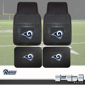 Los Angeles Rams NFL Heavy Duty Vinyl 2-Pc & 4-Pc Floor Car Truck SUV Mat Sets