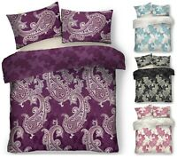 New Printed PAISLEY Floral Duvet Quilt Cover + Pillow Case Bedding Set All Size