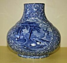 James Kent,  FENTON, Olde Foley Ware, Blue & White 'Onion' Vase. Circa 1910.