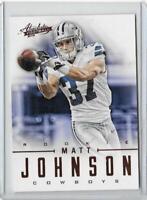 2012 Absolute NFL Football #165 MATT JOHNSON RC Dallas Cowboys /399 Rookie Card