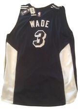 New Rare Dwayne Wade Miami Heat Mens Black XL Adidas Black Swingman Jersey NWT