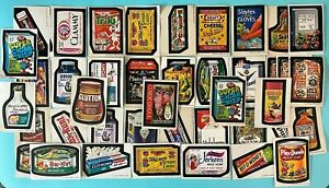Lot of 41 -Topps Wacky Packages Stickers - Used