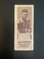 1923 V137 Canadian Willard's Chocolates Jack Dempsey Boxing Card