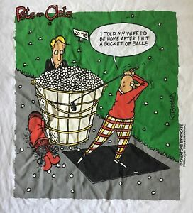 VTG. 90'S-PETE AND CLETE GOLFING-SAVVY BY TRAU & LOEVNER T-SHIRT-LARGE-RARE