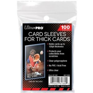 100 Ultra PRO Soft Sleeves THICK Cards 130pt Standard Size Protectors Clear