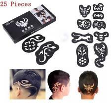 25Pcs/set Fashion Cool Hair Tattoo Hair Styling Trimmer Template Hair Pattern